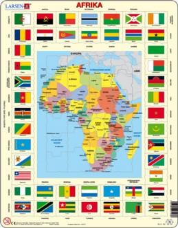 Výukové puzzle Mapa Afriky + vlajky