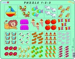 Výukové puzzle Počítání pro nejmenší s obrázky