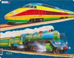 Výukové puzzle Vlaková doprava