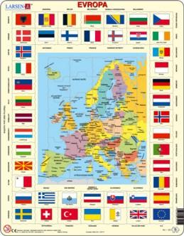 Výukové puzzle Mapa Evropy + vlajky