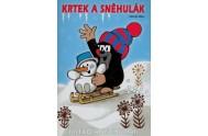 Krtek a sněhulák - omalovánka