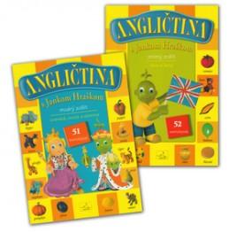 Balíček Angličtina s Jankom Hraškom zelený a modrý zošit