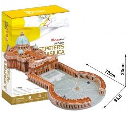 3D Puzzle Bazilika sv. Petra, 144 dílků