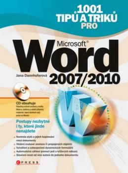 1001 tipů a triků pro Microsoft Word 2007/2010 + CD ROM - Jana Dannhoferová