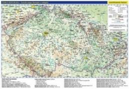 Česká republika administrativní a obecně zeměpisná mapa