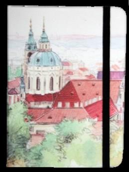 Zápisník s gumičkou 130x180 mm Praha