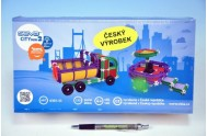 Stavebnice Seva City mini 2 plast 233ks v krabici 31,5x16,5x7,5cm