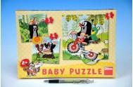 Puzzle Baby Krtek na louce 18x18cm 5 dílků v krabici