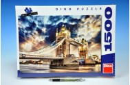 Puzzle Bouře nad Tower Bridge 84x60cm 1500 dílků v krabici