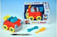 Auto Pat a Mat šroubovací plast 13cm asst 3 barvy v krabičce