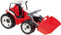 Traktor se lžíci, červeno bílý - Alltoys s.r.o.