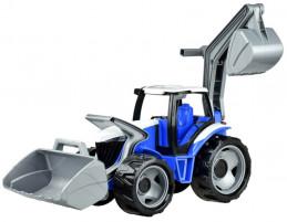 Traktor se lžící a bagrem, červeno bílý - Alltoys s.r.o.