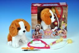 Pes nemocný interaktivní plyš 22cm v krabici - Rock David