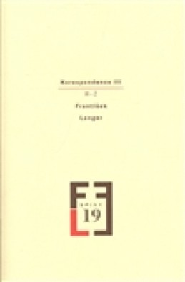 Korespondence III - František Langer