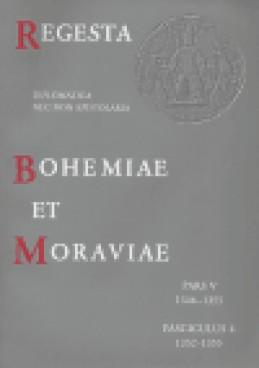 Regesta et Bohemiae et Moraviae V/4