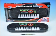 Pianko plast 41x13cm 25 kláves na baterie v krabičce