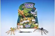 Pavouk plast pohyblivé nohy 7x16cm asst 4 barvy 36ks v boxu