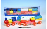Vlak + 2 vagóny dřevo tahací 45cm v krabičce od 12 měsíců