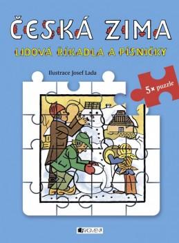 Lidová říkadla a písničky s puzzle - Česká zima - Josef Lada