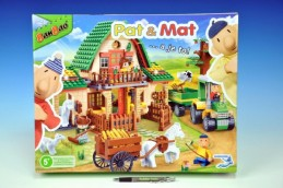 Stavebnice BanBao Eco Farm Pat a Mat velká farma 541 ks + 4 figurky plast v krabici 45x35x7cm - Rock David