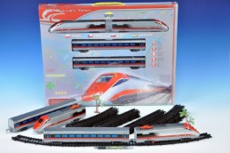 Vlak Bullet Train + dráha 190x121cm plast na baterie se zvukem se světlem v krabici - Rock David