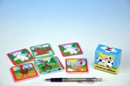 Pexeso se zvířátky společenská hra 80 kartiček v krabičce - Rock David
