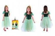 Kostým princezna Anička zelená, vel. L karneval v sáčku