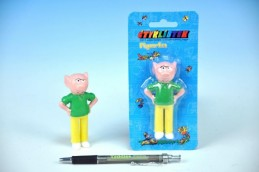Postavička/Figurka Bobík Čtyřlístek plast 9cm na kartě - Rock David