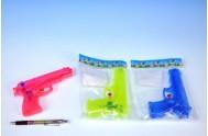 Vodní pistole plast 17cm; 3 barvy; v sáčku - 1 kus