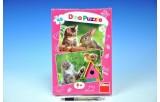 Puzzle Koťátko a kamarádi 2x48dílků 26,4x18,1cm v krabici