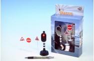 Semafor try me + 3 značky na baterie CR2032 se světlem v krabičce