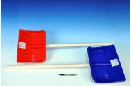 Lopata na vyhnování sněhu dřevo/plast 87cm asst 2 barvy