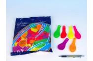 Balonek nafukovací 7 párty neon 100 ks v sáčku karneval