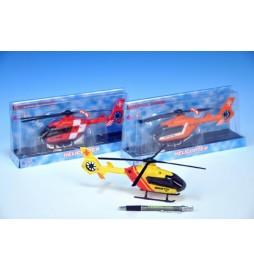 Vrtulník plast 21cm na baterie se světlem se zvukem asst 3 druhy v krabici