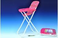 Židlička pro panenky vysoká kov/plast 33x26x60cm v sáčku
