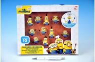 Puzzle 3D Mimoni 10ks gumové postavičky v krabici