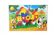 Stavebnice Blok Farma plast 230ks v krabici 42x30x8cm