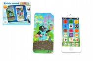 Krtkův naučný mobil telefon s krytem Krtek plast 13x6cm v krabici