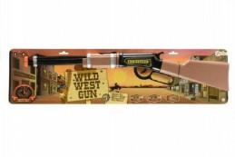Pistole/Puška western 62cm plast na baterie 2xAA se zvukem se světlem na kartě - Rock David