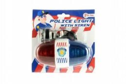 Policejní světlo na kolo plast 13cm na baterie se zvukem na kartě - Rock David