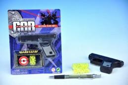 Pistole na kuličky 10cm + kuličky na kartě - Teddies s.r.o