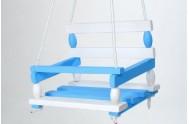 Houpačka dřevo modrá 38x30cm v sáčku