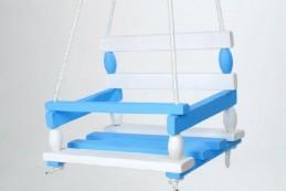 Houpačka dřevo modrá 38x30cm v sáčku - Rock David