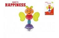 Chrastítko brouček plast 13cm Baby´s Happiness 3m+ na kartě