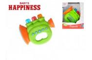 Trumpeta 12cm plast na baterie se zvukem a světlem Baby´s Happiness asst 2 barvy 18m+ v krabičce