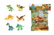 Veselá zvířátka Dinosauři plast 6ks na kartě