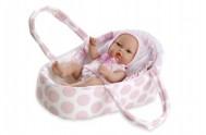 Panenka/miminko tvrdé tělo 33cm v tašce v sáčku