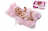 Panenka/miminko vonící 33cm růžové tvrdé tělo v krabici
