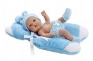 Panenka/miminko vonící 33cm modré tvrdé tělo v krabici