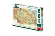 Puzzle Mapa České republiky 47x33cm 500dílků v krabici 33x23x3,5cm